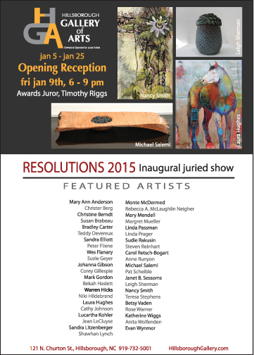 Hillsborough Gallery of Arts Resolutions 2015 Show